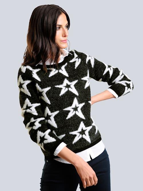 Pullover mit Sternen-Dessin