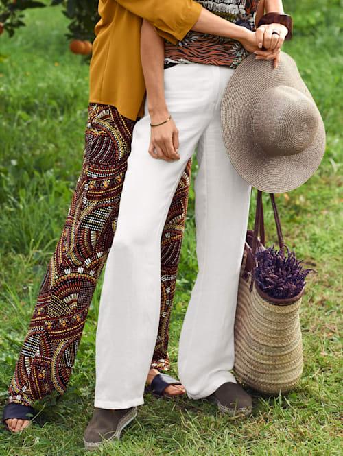 Pantalon en lin mélangé raffiné