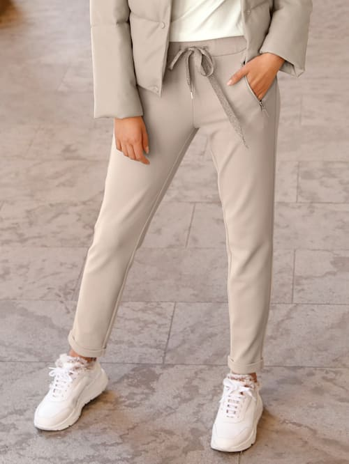 Jersey broek in trendy joggingstyle
