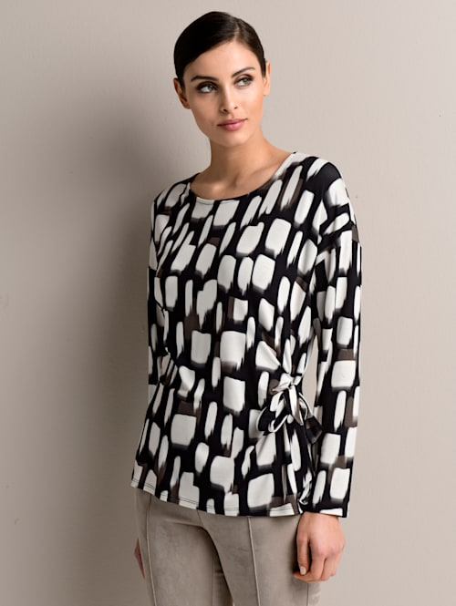 Shirt im Alba Moda exklusivem Dessin