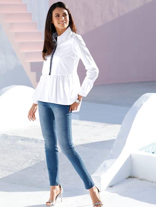 Jeans met subtielwashed effect