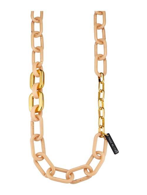 Halskette mit naturfarbenen Elementen