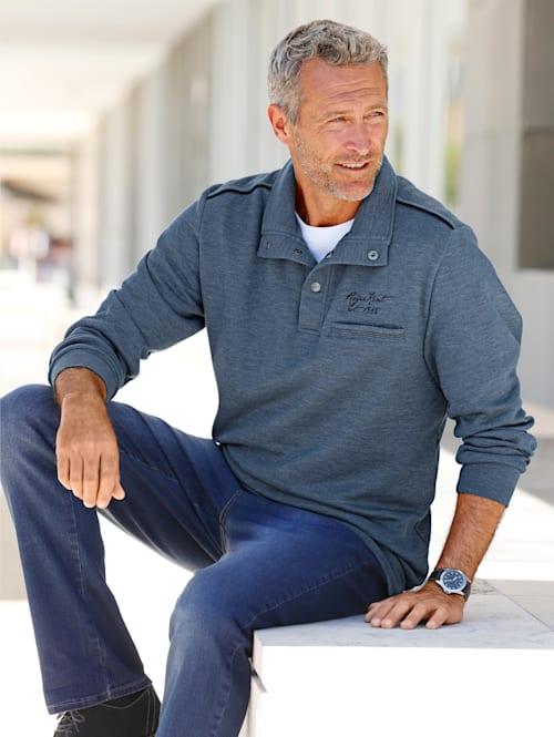 Sweat-shirt à passepoil contrastant