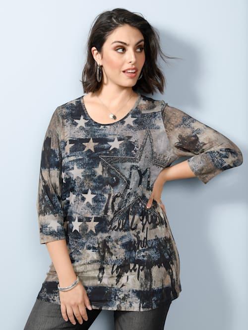 Shirt mit Dekosteinchen