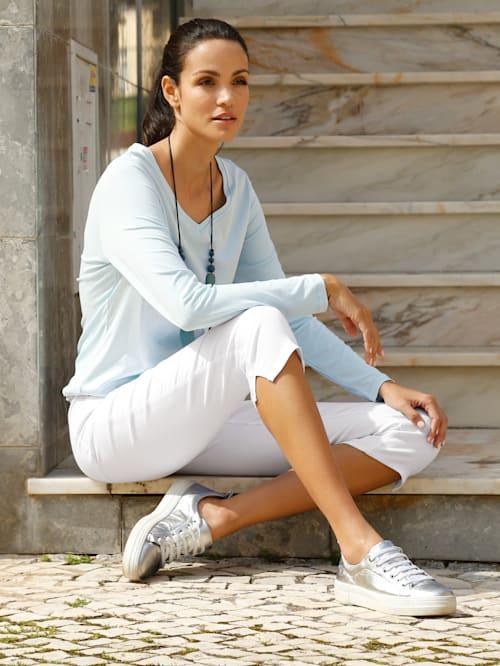 Capri džíny v elastické kvalitě