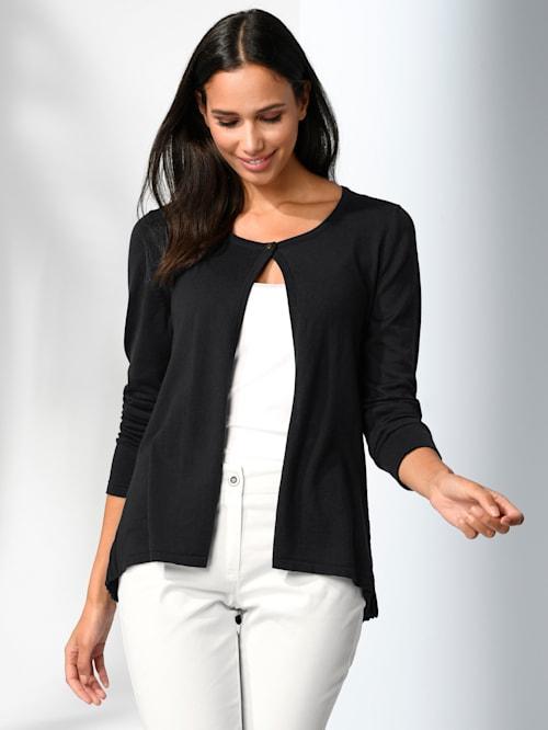 Vest met plissé achter