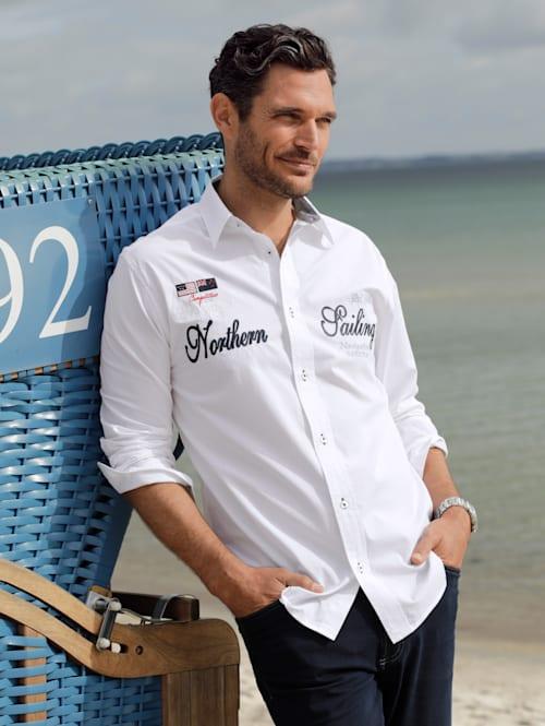 Overhemd met maritiem borduursel