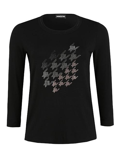 Shirt mit Glitzer-Details Glitzereffekt