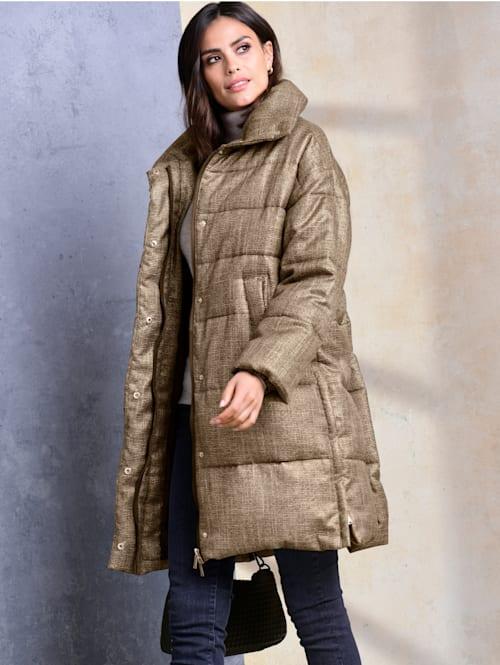 Mantel im feinen Karodessin allover