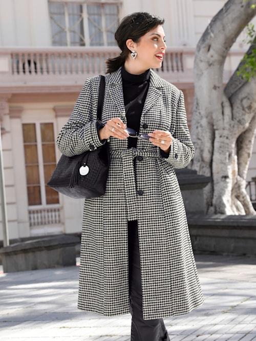 Mantel mit modischem Glencheckmuster