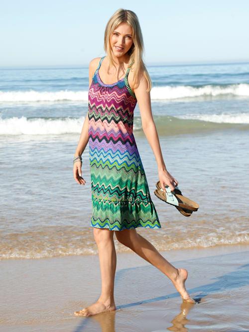 Robe de plage à effet superposé