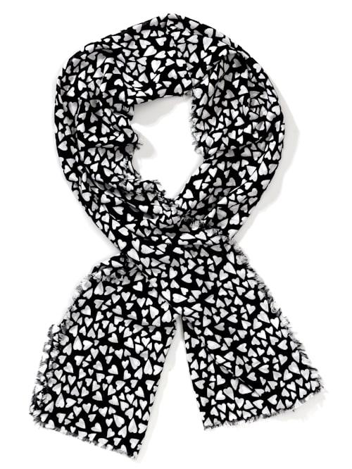 Schal mit Herzchen-Print