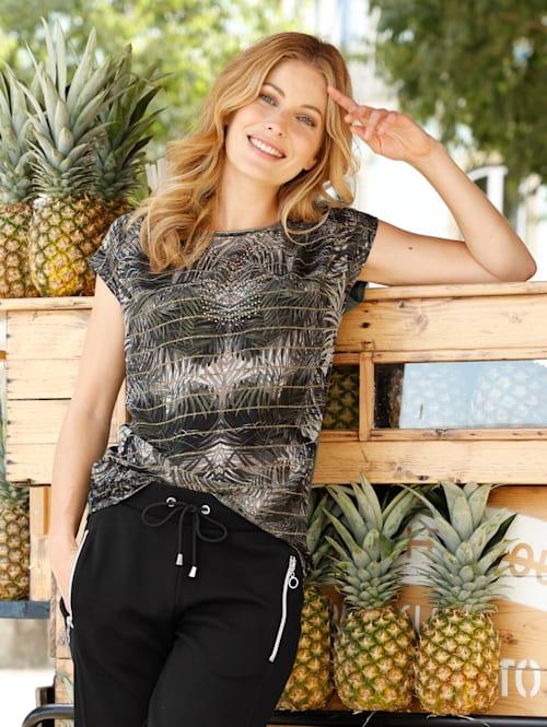 Shirt met tropische print