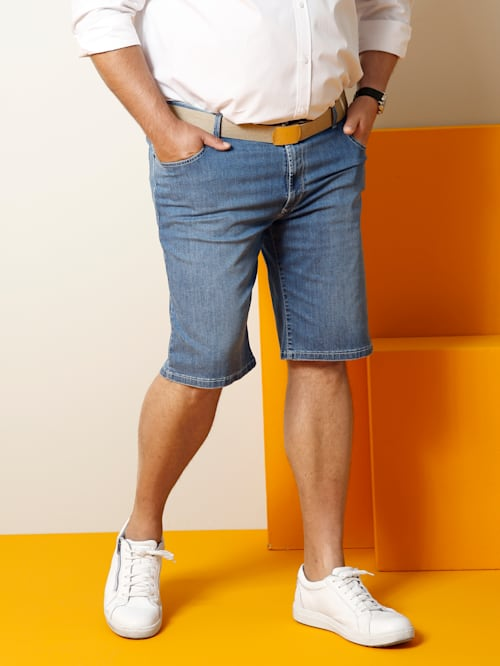 Megaflex-jeansbermudashorts Straight fit