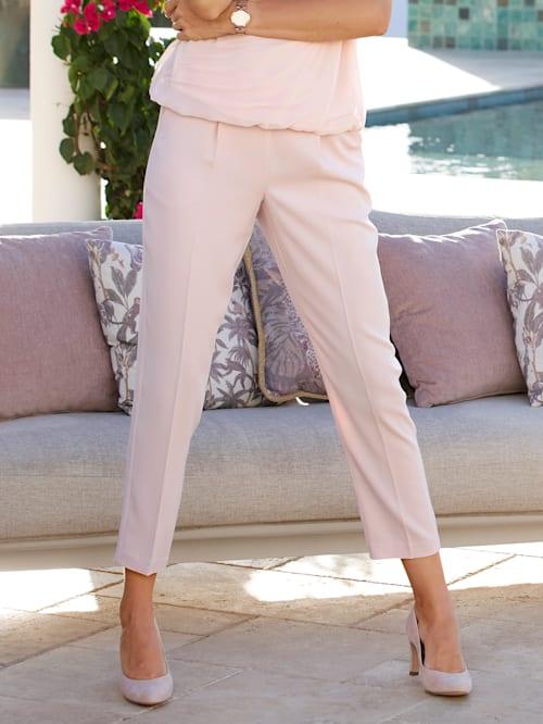 Pantalon 7/8 à plis permanents