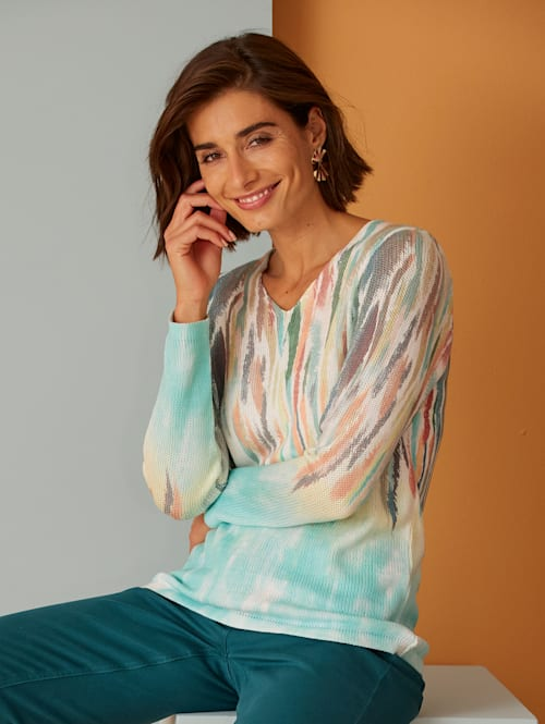 Jumper with a placed graphic print