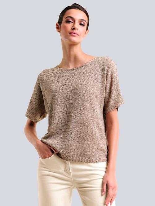 Pullover mit effektvollem Glanzgarn
