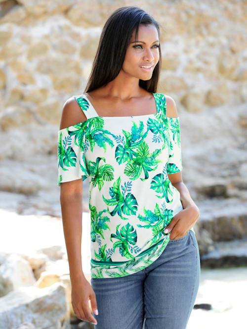 Strandshirt in offshoulder style