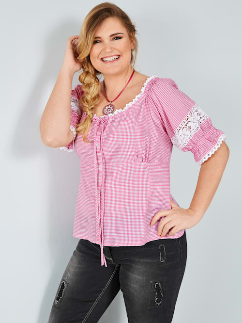 Tiroler blouse van zuiver katoen