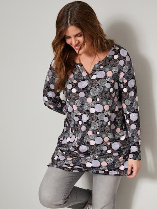 Tunika-Shirt mit grafischem Druck