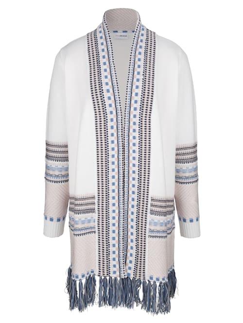 Dlhý sveter so strapcami na ukončení