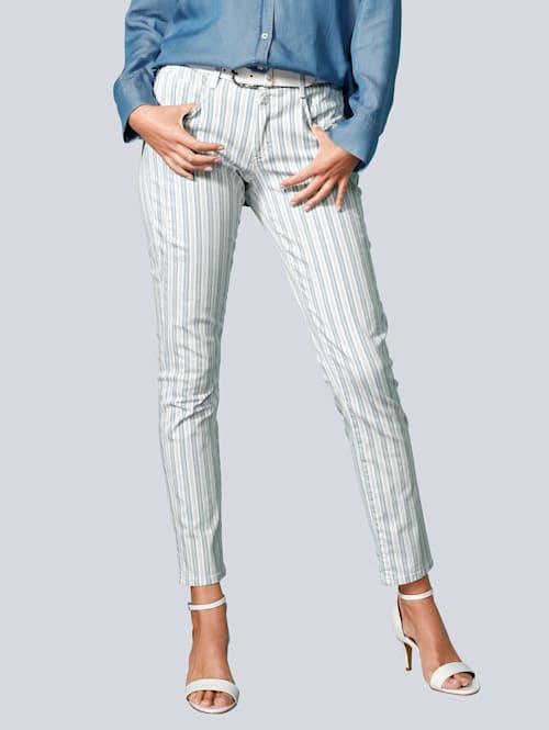 Jeans im Streifendessin