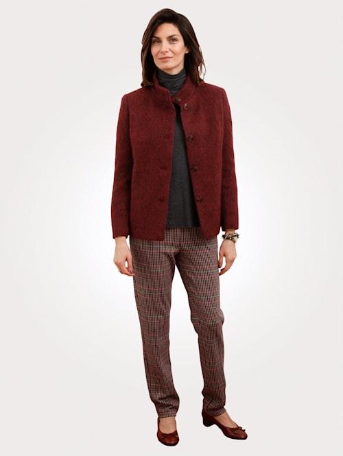Jerseyhose mit Hahnentritt-Muster