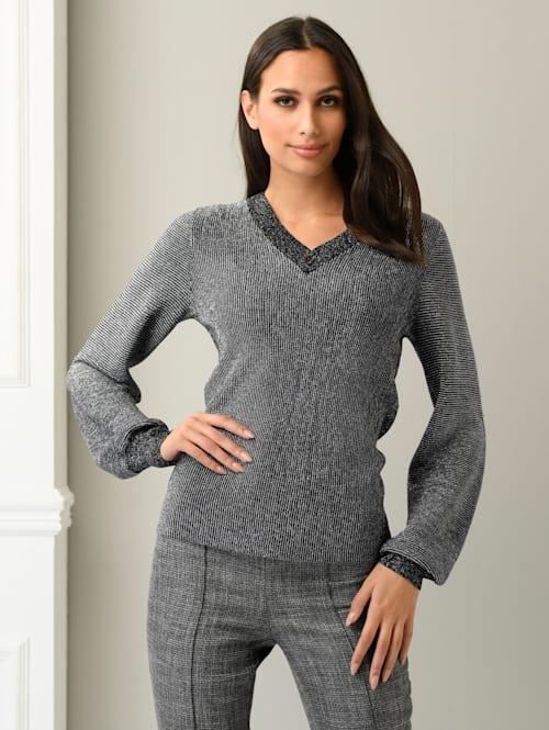 Pullover mit Glanzgarn