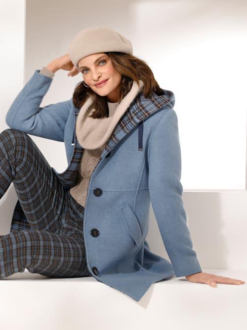 Veste en laine foulée