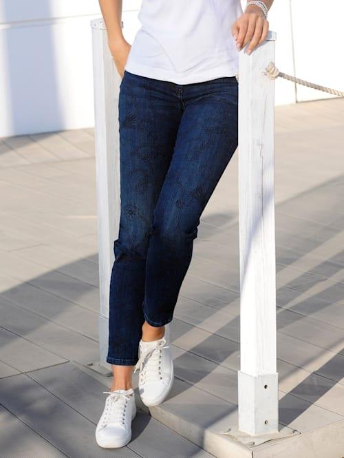 Jeans mit exklusivem Druck-Dessin