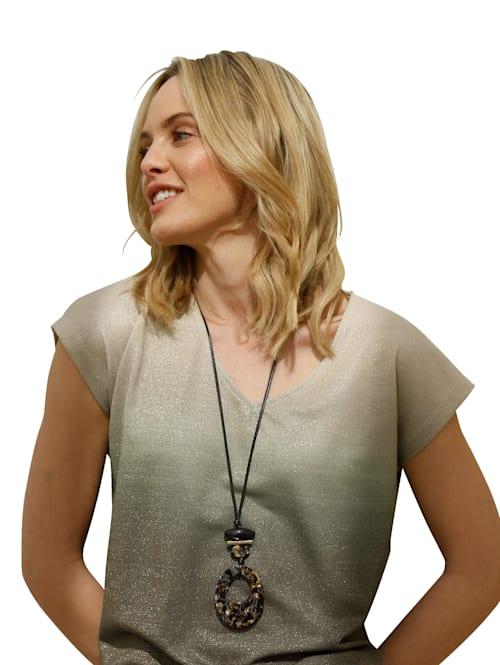 Halskette mit mosaikfarbenem Anhänger