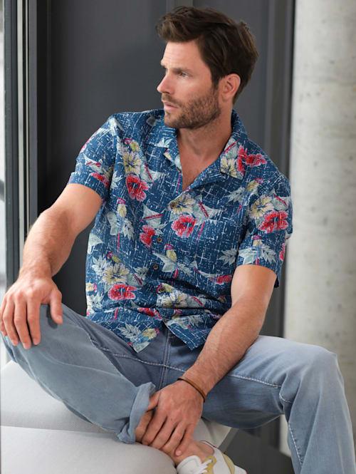 Overhemd Hawai van zuiver katoen