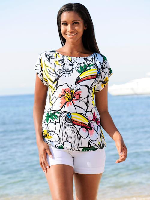 Strandshirt in Skizzenoptik