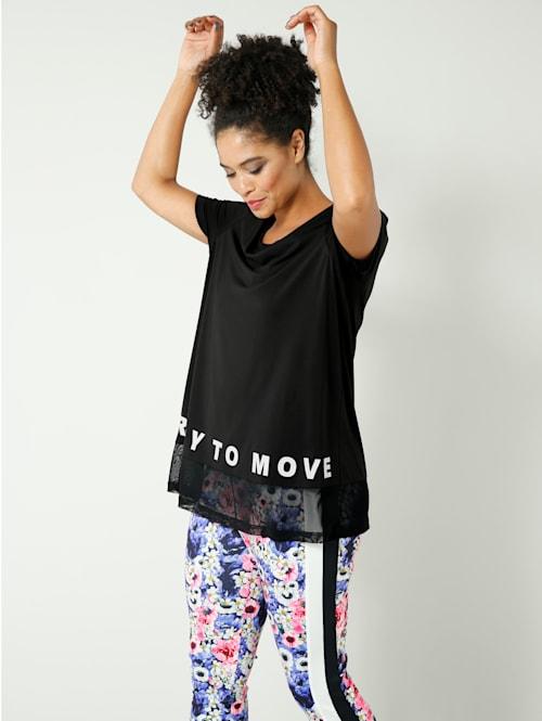 Shirt mit Mesh am Saum