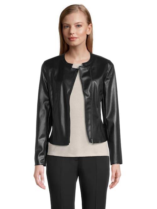 Blazer-Jacke mit Strukturprägung Material