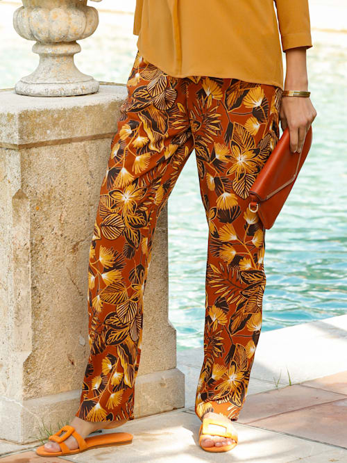 Pantalon à imprimé harmonieux