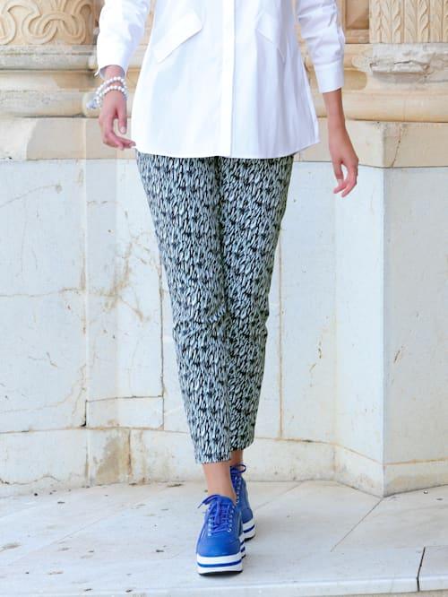 Kalhoty s grafickým minimalistický vzorem