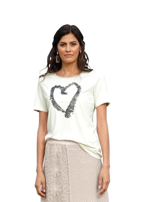Shirt mit dekorativen Steinchen im Vorderteil
