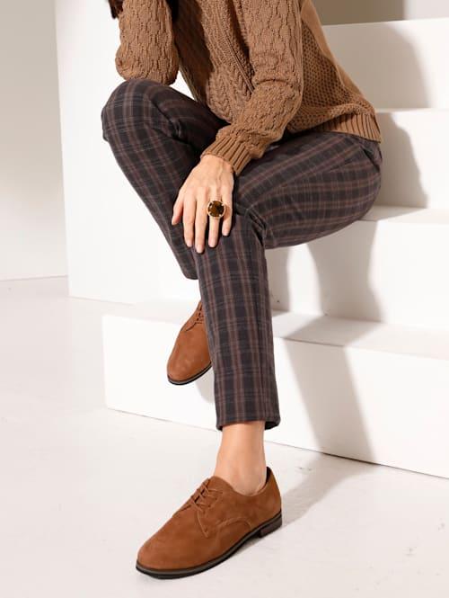 Pantalon à motif de carreaux intemporel