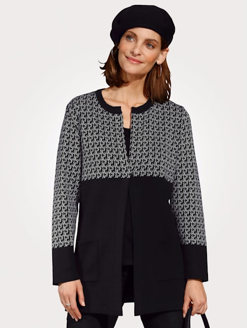 Vest met grafisch jacquardpatroon