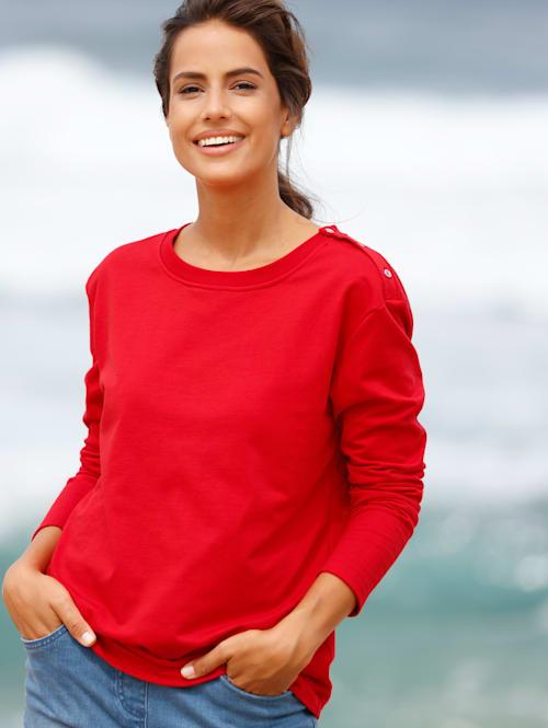 Sweat-shirt avec patte boutonnée sur le côté