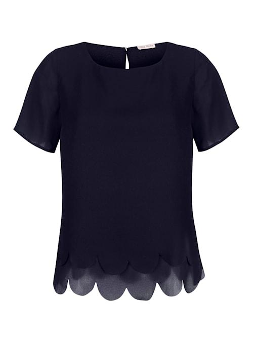Blusenshirt mit Wellensaum im Layerlook