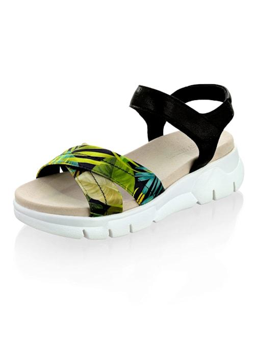 Sandalette mit Riemen im Dschungel-Thema