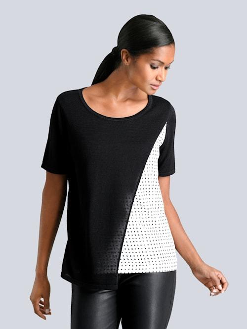 Pullover mit Web-Einsatz