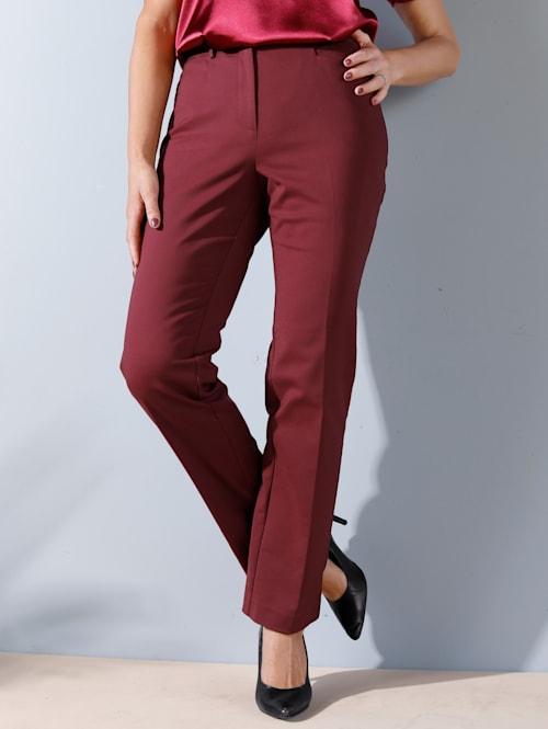 Kalhoty s prodlužujícími zažehlenými puky