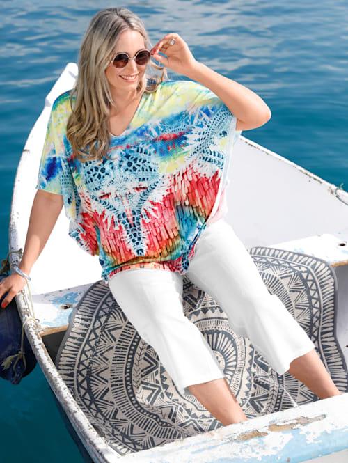 Jupe-culotte en lin mélangé agréable à porter