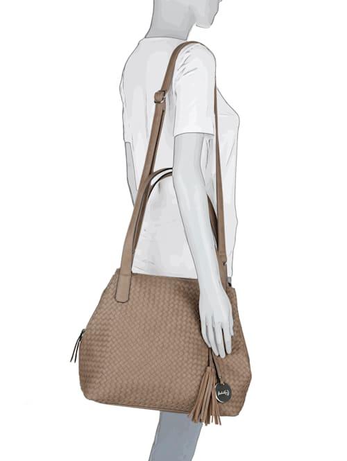 Väska med flätad framsida