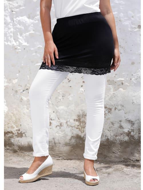 Shirtverlängerung mit elastischer Spitze am Saum
