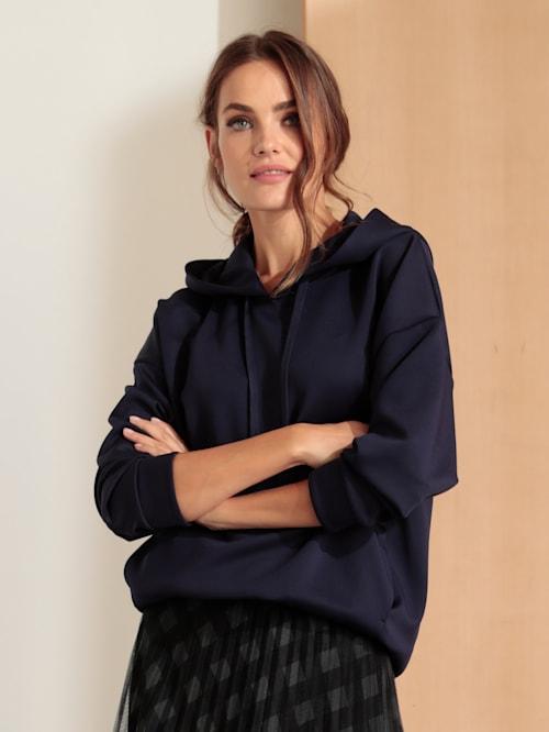Sweatshirt aus leicht glänzender Ware