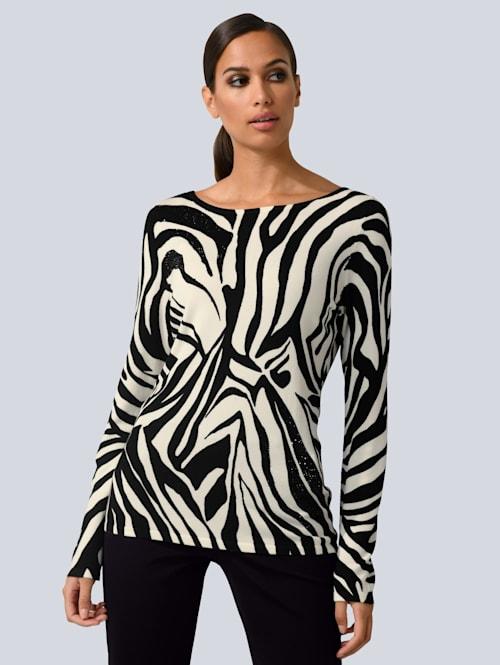 Pullover im modischen Animal-Dessin